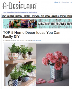 A-desiflava Top 5 DIY Decor Ideas