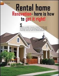 Rental home renovation tips